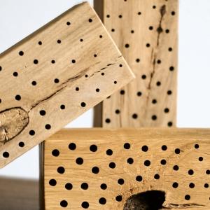 Insektenhotels für Wildbienen. Artgerechte Nisthilfen aus Hartholz mit sauberen Bohrungen kaufen bei Bienesto