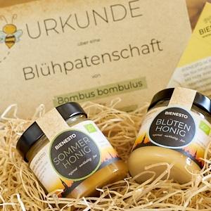 Ein nachhaltiges Geschenk: Blühpatenschaft verschenken für Familie und Freunde mit Zertifikat und Honig