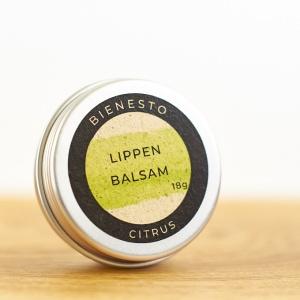 Bienesto Lippenbalsam Citrus - natürlicher Lippenbalsam in der 18g Dose