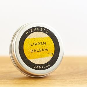 Bienesto Lippenbalsam Vanille - natürlicher Lippenbalsam in der 18g Dose