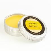 Bio Lippenbalsam Vanille in der Dose mit Bio-Bienenwachs und Bio-Jojobaöl für geschmeidige Lippen im Winter